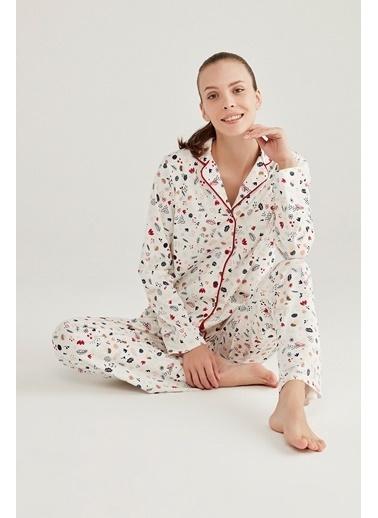 Penti Gift Merry Pijama Takımı Beyaz